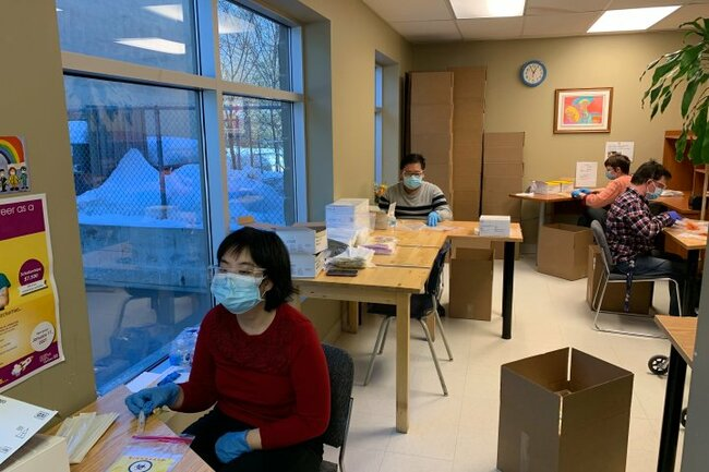West Island workers prepping thousands of COVID-19 test kits, supporting front line
