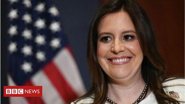 Elise Stefanik: Trump loyalist wins Republican leadership post