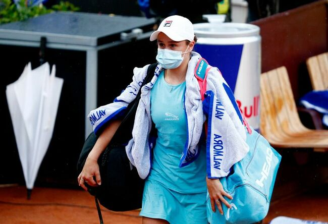 Tennis-Arm injury forces Barty out of Italian Open