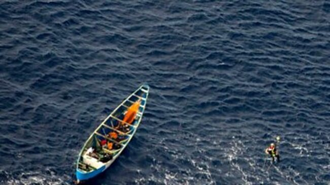 Teen girl found in boat drifting for three weeks at sea