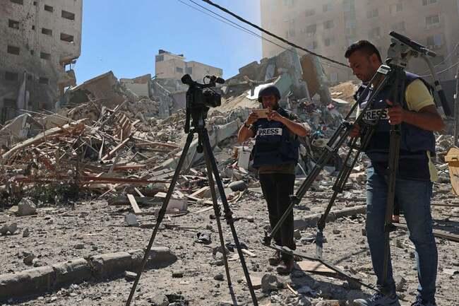 Israeli Airstrike Destroys Gaza Building That Housed AP, Al-Jazeera Offices