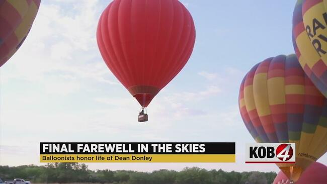 Hot air balloonists host memorial ascension to honor fellow pilot