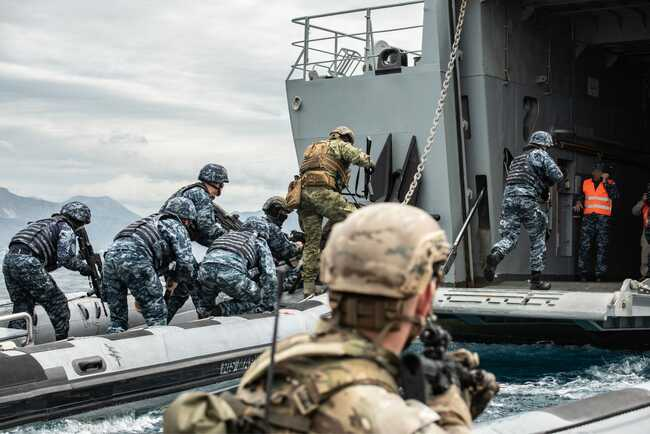 US Navy SEALs are training to fight on land and waterin a 'strategic location' near Russia