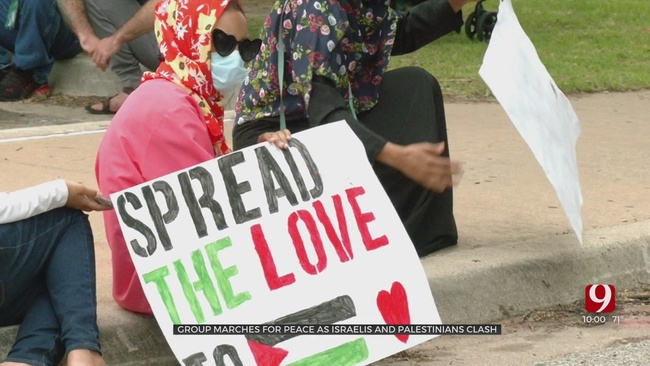 Metro Residents Make Voices Heard In Middle East Violence Protest
