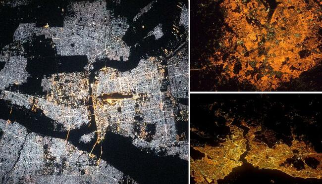 From Madrid to Delhi, here are some stunning pictures of cities taken at night from space