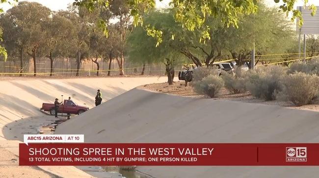 Arizona gunman kills one, injures 12 at eight sites across three cities in apparently random rampage