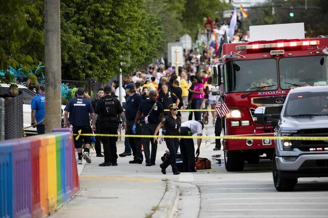 Driver hits 2 at start of Pride parade in South Florida