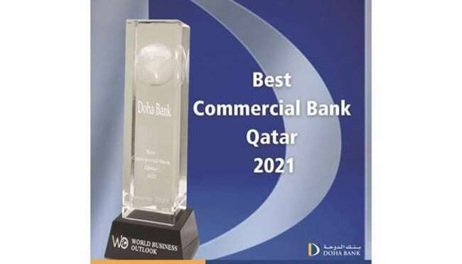 Doha Bank wins 'Best commercial Bank in Qatar 2021' at World Business Outlook Awards 2021