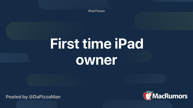 First time iPad owner