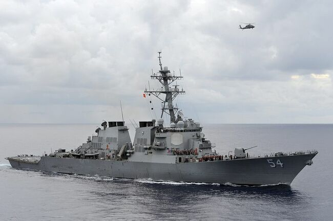 U.S. warship transits Taiwan Strait a week after large Chinese air incursion