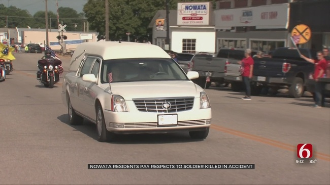 Nowata Residents Pay Respects To 29-Year-Old Soldier Killed In Accident