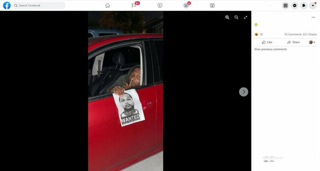 Ohio suspect taunts police by holding his wanted photo in Facebook post