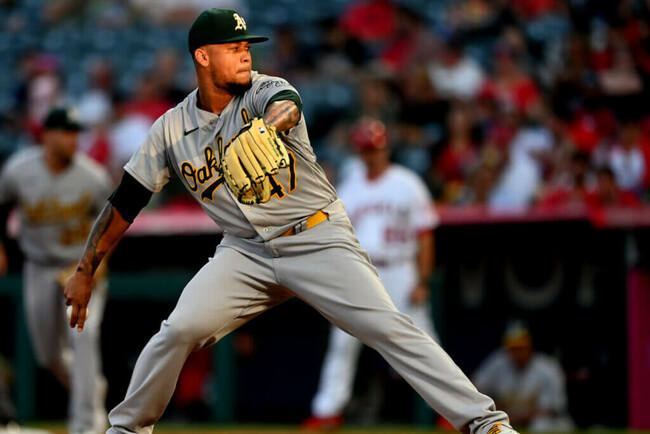 A's Frankie Montas is filthy in win over Angels, who seemed quite annoyed by Mark Canha