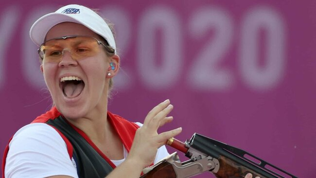 First Mixed Trap Medal Falls to U.S. Shooters Bernau and Burrows