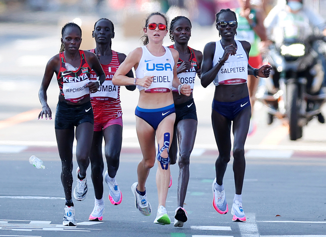 Notre Dame runner is a surprise medalist in the women's Olympic marathon