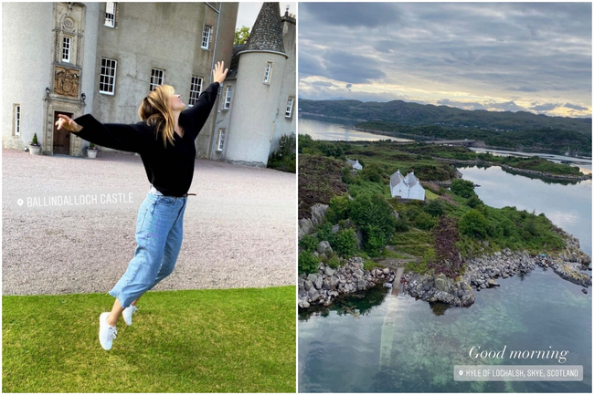 Maria Sharapova 'finds endless happiness' in Highlands as tennis superstar shares snaps from Scotland trip
