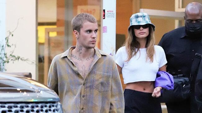 Justin Bieber Cuddles Hailey Baldwin As She Rocks Blue Latex Dress In Gorgeous Photo