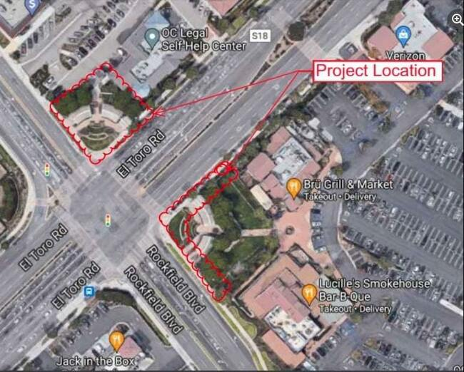 Attractive Arbors entry to El Toro commercial area may soon be restored in Lake Forest