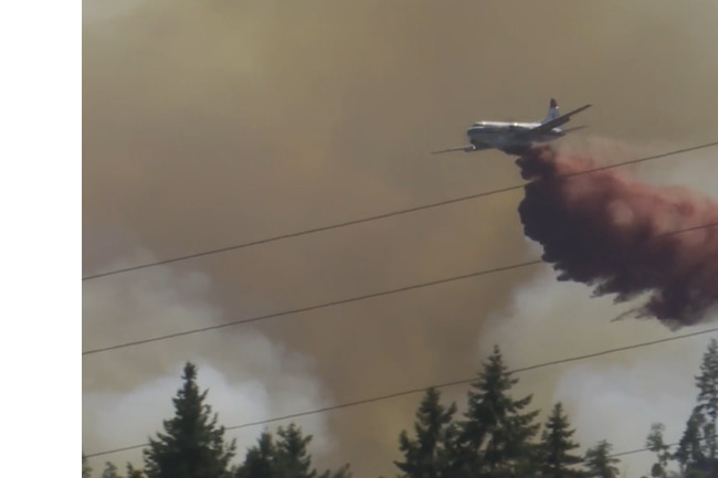 Out-of-control wildfire burning 4.5 km from Ladysmith, B.C.