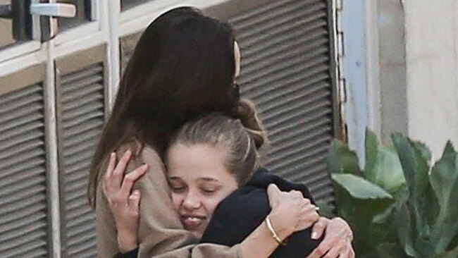 Angelina Jolie Hugs Shiloh Jolie Pitt, 15, As She & Sisters Warmly Meet Mom After Hospital Visit
