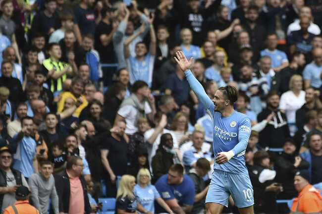 Grealish nets 1st goal for 5-star City, Liverpool wins again