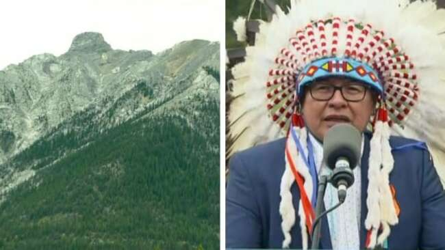 Rocky Mountain peak officially given traditional Stoney Nakoda name, erasing racist label