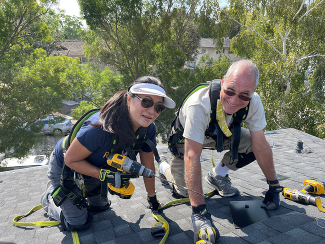 South Bay volunteers help affordable housing complex go solar