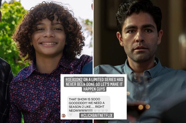 Netflix's Clickbait star Jaylin Fletcher campaigns for season 2 of Adrian Grenier series after shocking ending