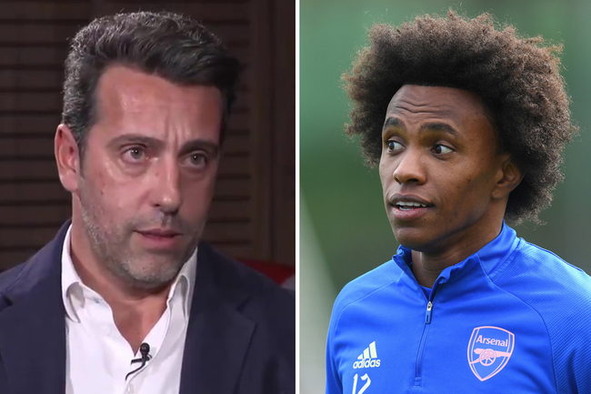 Willian 'wasn't 100 per cent comfortable at Arsenal', says transfer chief Edu after his return to Corinthians