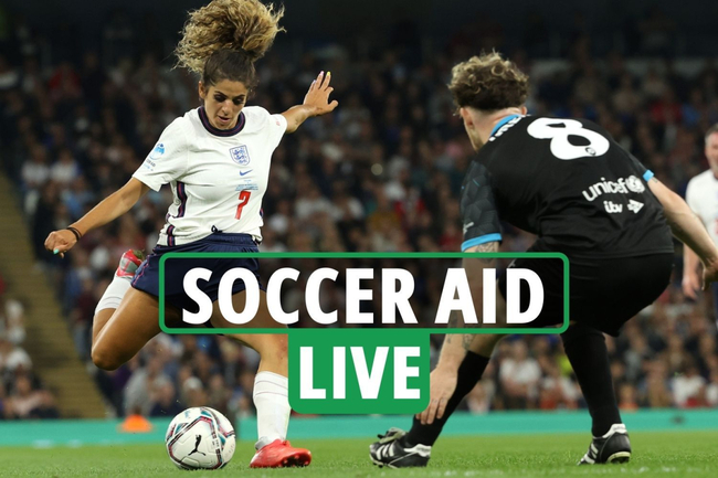 Soccer Aid 2021 LIVE – England vs World XI: Latest updates as Tom Grennan AVOIDS booking – stream, TV channel, teams