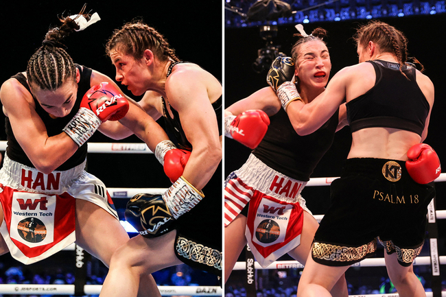 Katie Taylor impressively defends lightweight crown against Jennifer Han in her favourite football city of Leeds