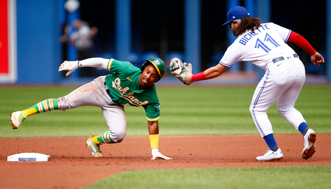 Oakland A's pitching staff can't contain Toronto Blue Jays in loss