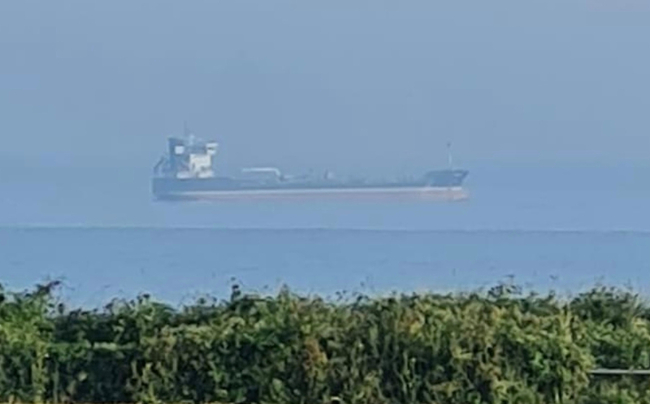 Bizarre 'floating ship' spotted off UK coast in mind-bending optical illusion