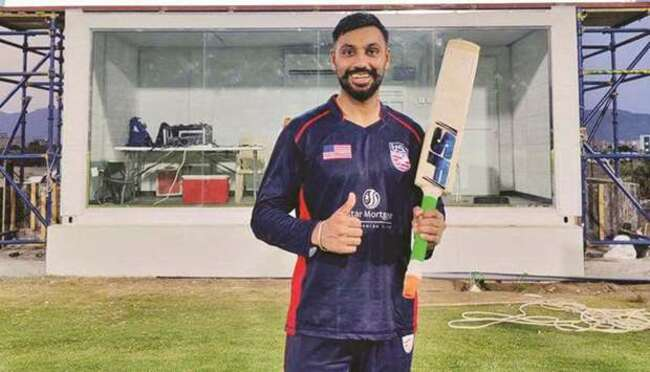 USA cricketer smacks six sixes in an over against Papua New Guinea