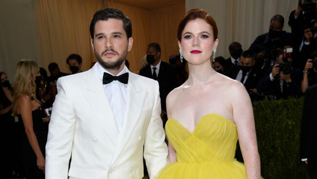 Rose Leslie Stuns In Gorgeous Yellow Ball Gown At Met Gala With Kit Harington