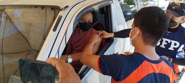 Lapu drive-thru vaccination kicks off