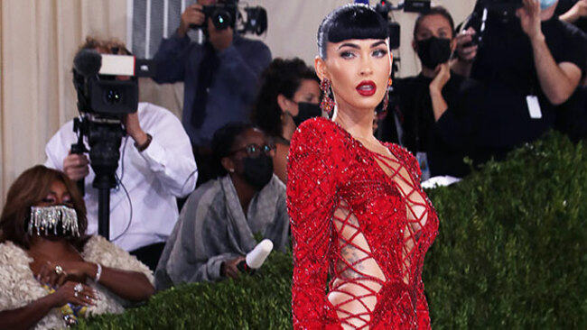 Megan Fox Is Red Hot In Sexy Cutout Gown For Met Gala Without Machine Gun Kelly