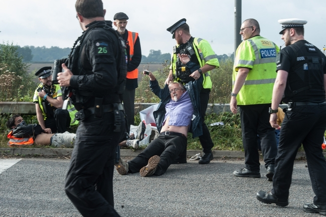 Shameless eco-warriors now block M11 near Stansted airport in third day of chaos just hours after being dragged off M25