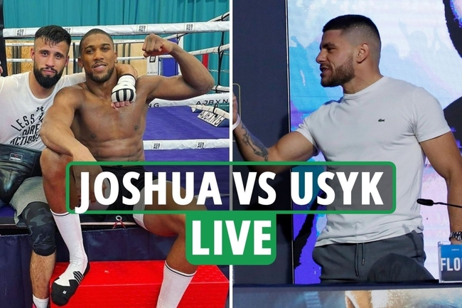 Anthony Joshua vs Oleksandr Usyk LIVE: AJ and Usyk meet at press conference, Marku tackled by security – latest updates