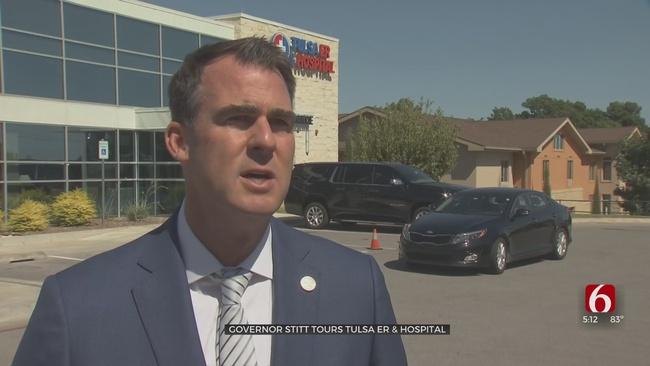 Governor Stitt Tours Tulsa ER That Provides Monoclonal Antibody Treatments