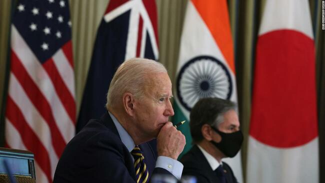 Biden is bringing together Japan, Australia and India to stare down China