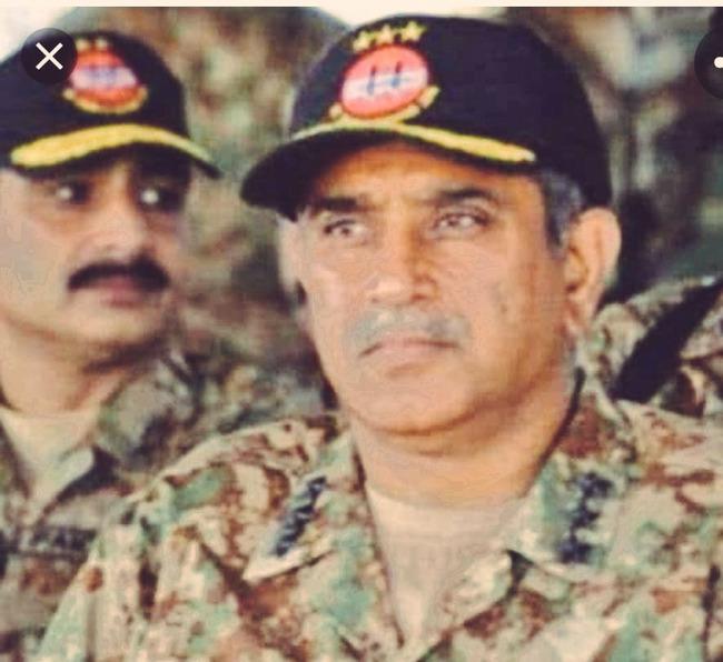 Man behind the operation Zarbe Azab Lt Gen Ishfaq Nadeem (R) passed away.