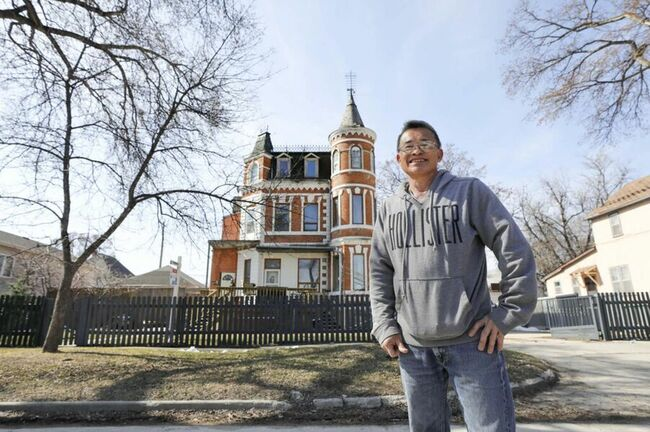 They say a man's home is his castle; grand old Queen Anne house takes the adage literally