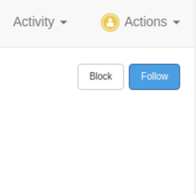 Follow users