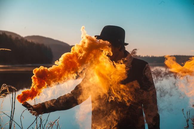 Flame-like Smoke