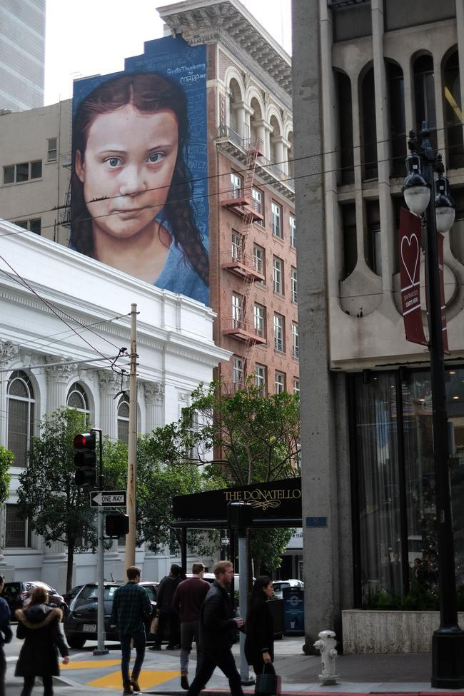 Greta Thunberg Street Art