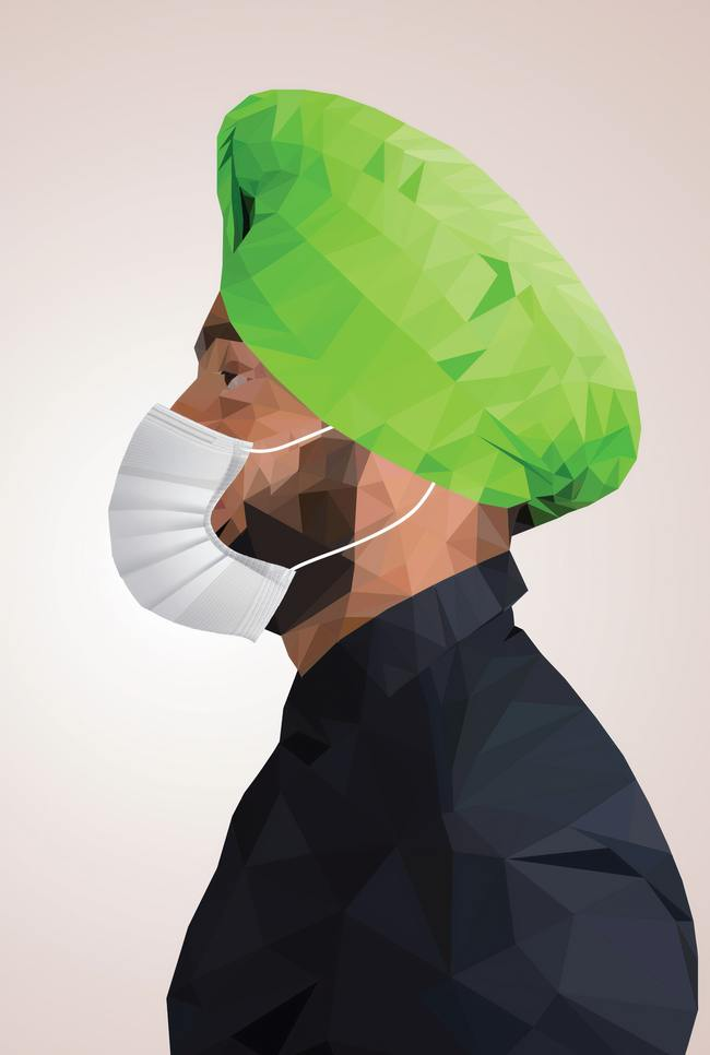 Masked Man Vector Art