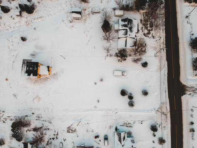 Aerial Winter Yard