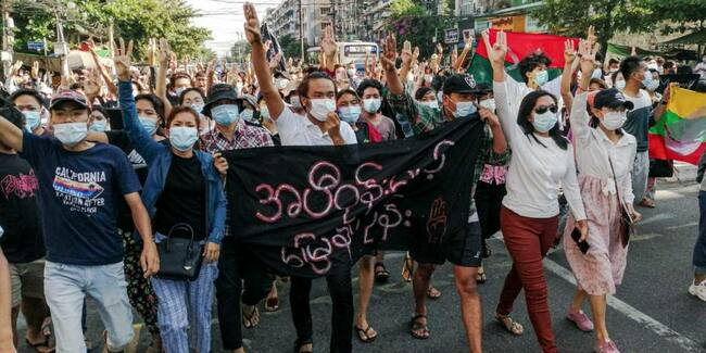 Myanmar coup latest: Flash mobs defy junta, multiple protesters killed