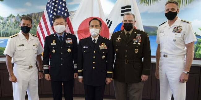 US, Japan, South Korea generals hold first meeting since outbreak